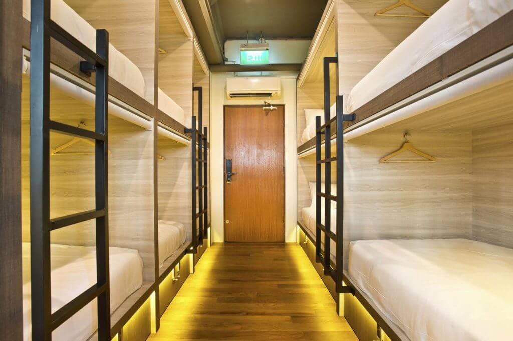 Capsule Pod beste en goedkoopste hostels in Singapore