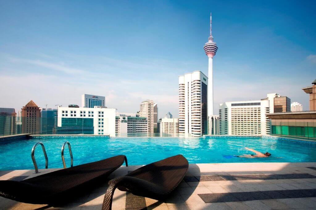 Goedkope Hotels met Rooftop Zwembad Kuala Lumpur Fraser Place